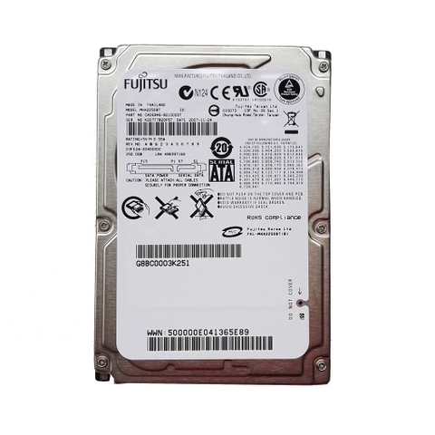 Ổ cứng Laptop HDD Fujitsu 250GB MHX2250BT 4200RPM SATA 2.5