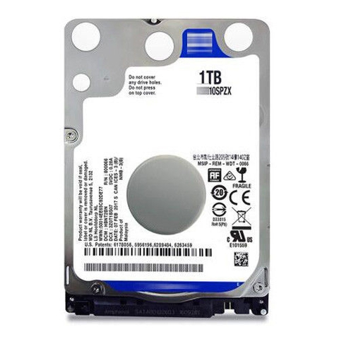 Ổ cứng Laptop HDD WD 1TB WD10SPZX 5400RMB 128MB Cache 2.5