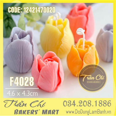Khuôn silicone Hoa TULIP - Size LỚN (5.5x5.5cm) (F4028)