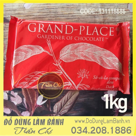 Grand-Place Chocolate Compound ĐEN - Tảng 1kg