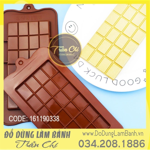 Khuôn silicone vỉ Thỏi Chocolate lớn 1c