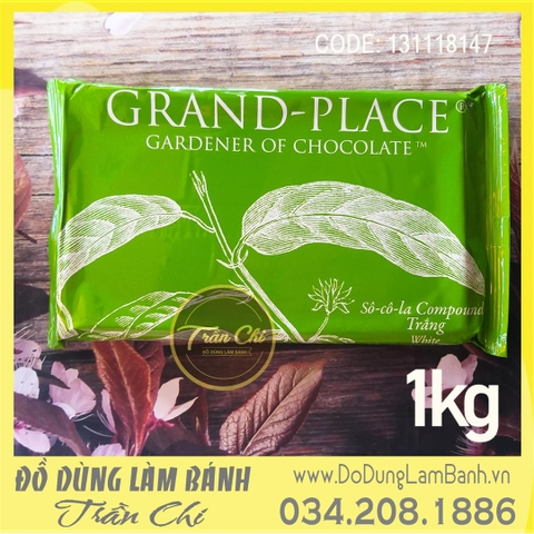 Grand-Place Chocolate Compound WHITE - Tảng 1kg