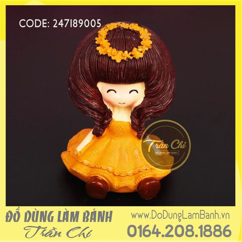 Khuôn silicone baby girl - Orange