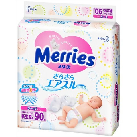 Bỉm Merries dán Newborn 90