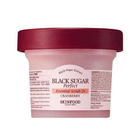 Mặt nạ rửa BLACK SUGAR PERFECT ESSENTIAL SCRUB 2X CRANBERRY