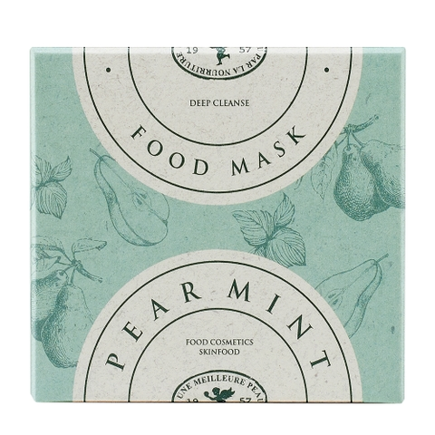 Mặt nạ rửa SKINFOOD PEAR MINT FOOD MASK