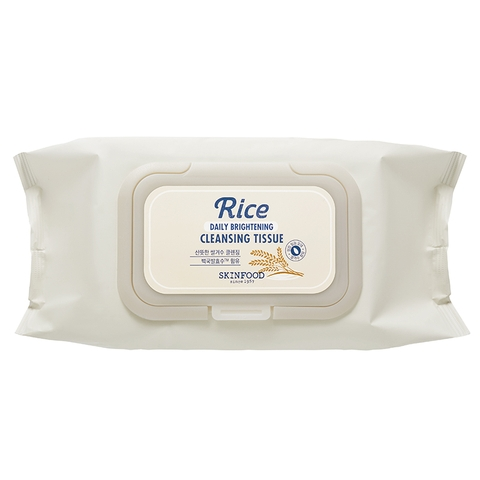 Khăn giấy tẩy trang RICE DAILY BRIGHTENING CLEANSING TISSUE