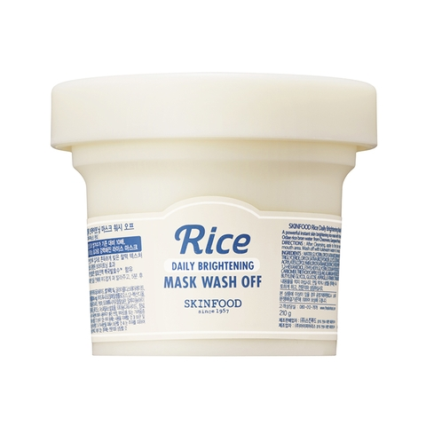 Mặt nạ rửa RICE DAILY BRIGHTENING MASK WASH OFF