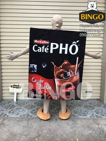 Mascot Hộp Cafe Phố