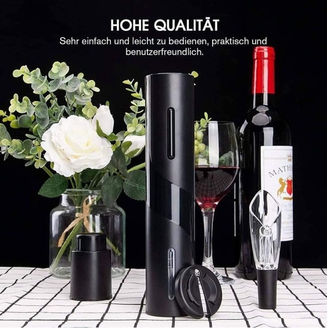 MỞ RƯỢU PIN ELECTRIC WINE SET