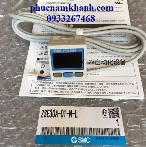 SENSOR ZSE30A-01-N-L SMC DIGITAL PRESSURE SWITCH