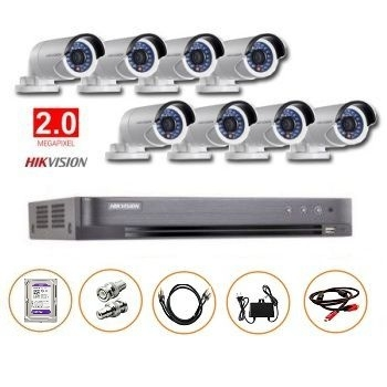 BỘ 08 CAMERA 2MP DS-2CE16D0T-IR