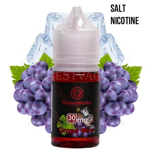 SteamWorks - SN Grape Wine 30ml 50mg ( Rượu Nho )