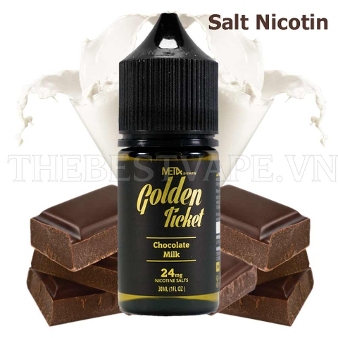Tinh dầu vape salt nicotine - GOLDEN TICKET 30ml