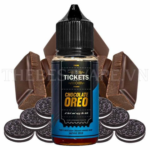 Tinh dầu vape malaysia Chocolate Oreo 70ml - Tickets Brew