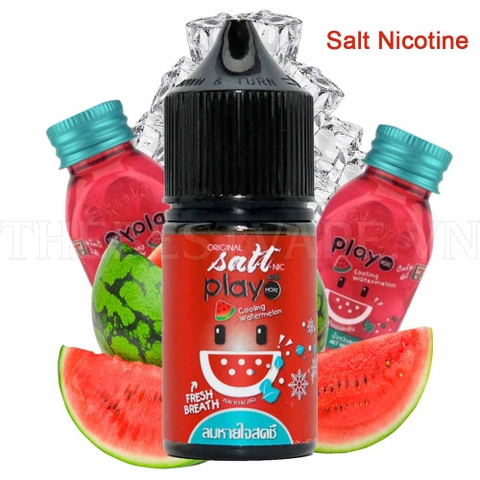 Tinh dầu vape malaysia Salt Nicotine Play Watermelon 30ml