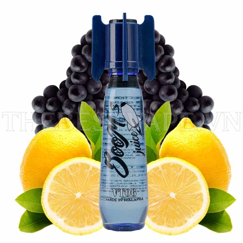 Tinh dầu vape malaysia VT06 Blue Boom's Juice - Lemon Grape 60ml