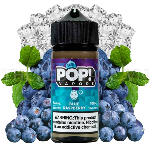 Tinh dầu vape mỹ Ice Pop BlueRaspberry 100ml