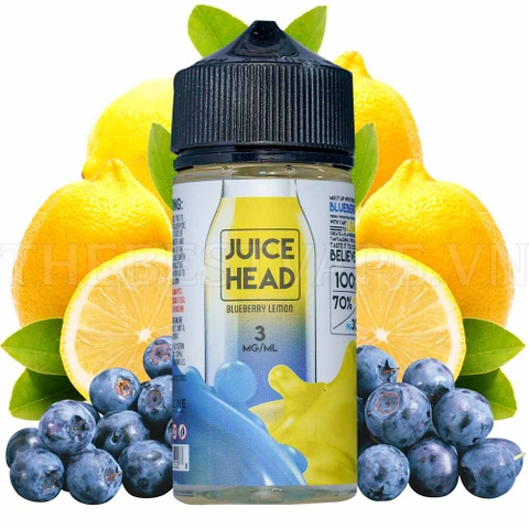Tinh dầu vape mỹ Blueberry lemon Juice Head 100ml