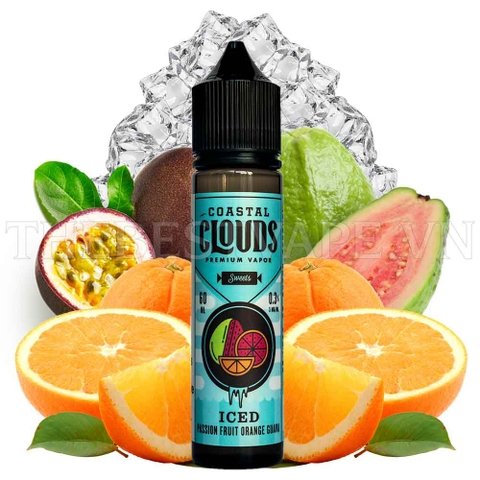 Tinh dầu vape mỹ Iced Passion Fruit Orange Guava - Coastal Clouds