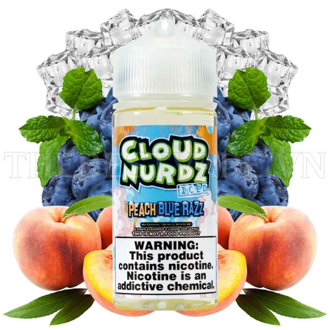 Tinh dầu vape mỹ Peach Bluerazz 100ml - Cloud Nurdz
