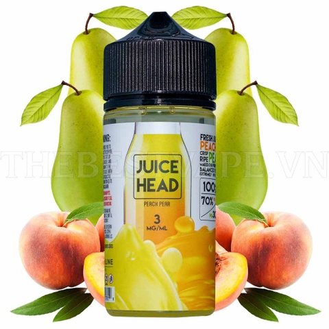Tinh dầu vape mỹ Peach Pear Ice 100ml - Juice Head