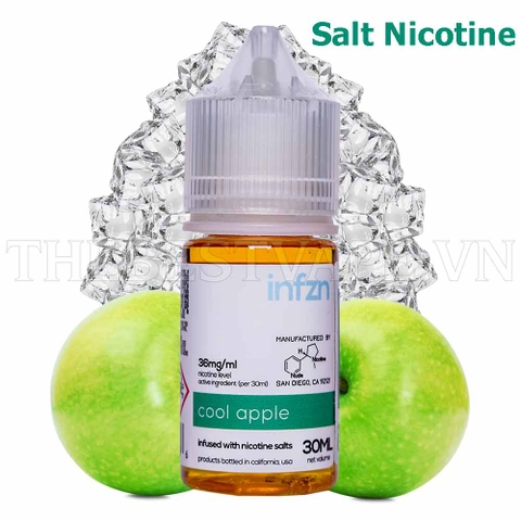 Tinh dầu vape mỹ Salt Nicotine Cool Apple 30ml - Infzn