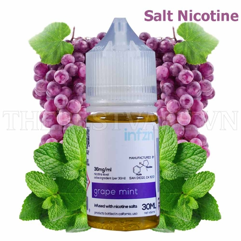 Tinh dầu vape mỹ Salt Nicotine Grape Mint 30ml - Infzn