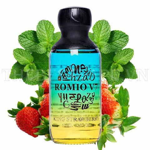 Tinh dầu vape King Strawberry Romio 60ml