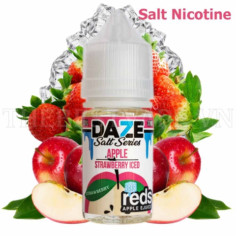 Salt Nicotine Strawberry Redsapple Iced 60ml - Tinh dầu vape mỹ dâu