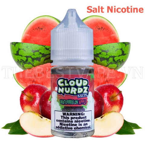 Tinh dầu vape mỹ Salt Nicotine Watermelon Apple 30ml - Cloud Nurdz
