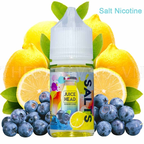Tinh dầu vape mỹ Salt Nicotine Blueberry lemon Juice Head 30ml