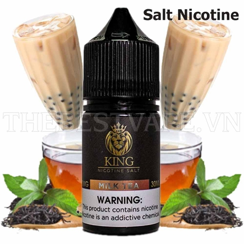 Tinh dầu vape malaysia Salt Nicotine King Milk Tea 30ml