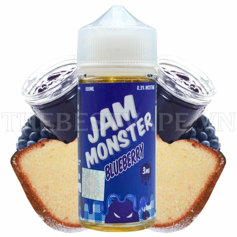 Tinh dầu vape mỹ JAM MONSTER BLUEBERRY 100ml