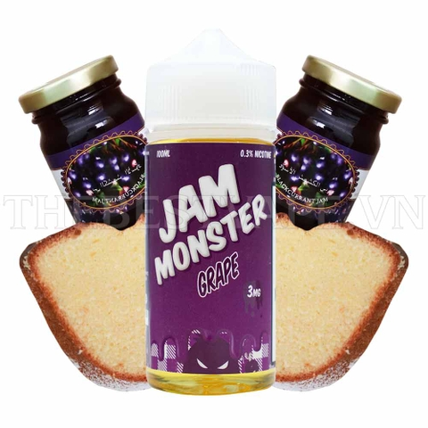Tinh dầu vape mỹ JAM MONSTER GRAPE 100ml