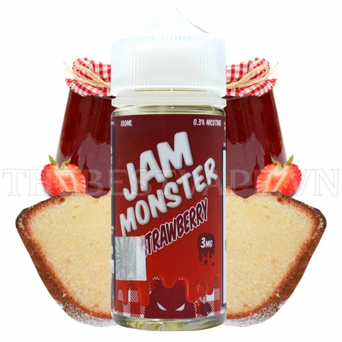 Tinh dầu vape Mỹ JAM MONSTER STRAWBERRY 100ml