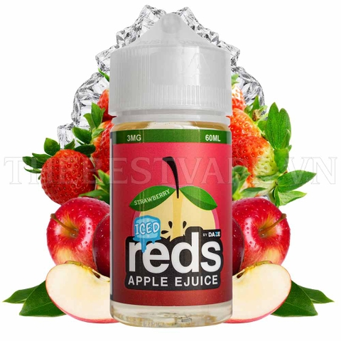 RedsApple - FB Strawberry Iced 60ml ( táo dâu bạc hà )