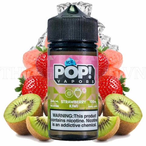 Tinh dầu vape mỹ Ice Pop Strawberry Kiwi 100ml