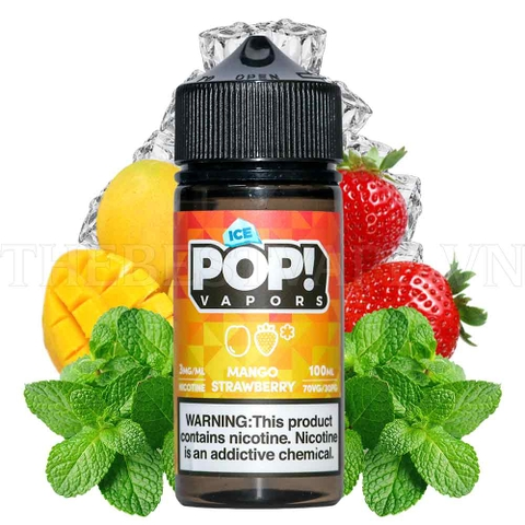 Tinh dầu vape mỹ Ice Pop Mango Strawberry 100ml
