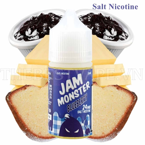 Tinh dầu vape mỹ Salt Nicotine Blue Raspberry 30ml - Jam Monster