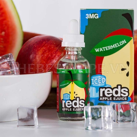 Tinh dầu vape mỹ WATERMELON RED APPLE ICE