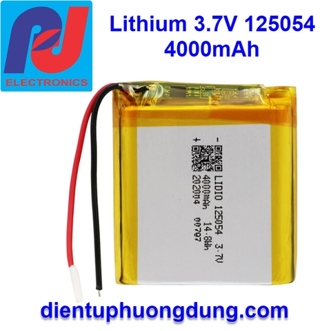 Pin Li-ion 3.7V 125054 4000mAh