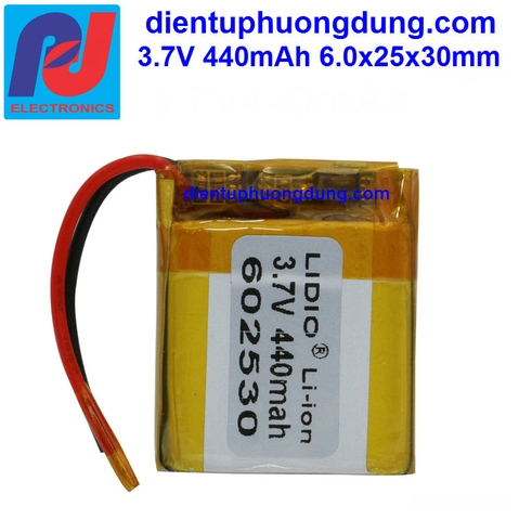 Pin Li-ion 3.7V 440mAh 602530