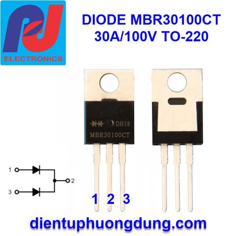 Diode MBR30100CT 30A 100V