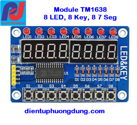 Module TM1638 LED + Key