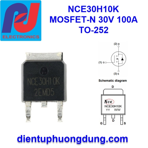 NCE30H10K MOSFET-N Channel 30V 100A TO252