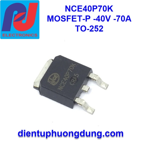 NCE40P70K MOSFET-P Channel 40V 70A