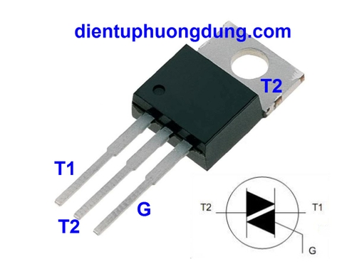 Triac BTA16 16Arms - 600V