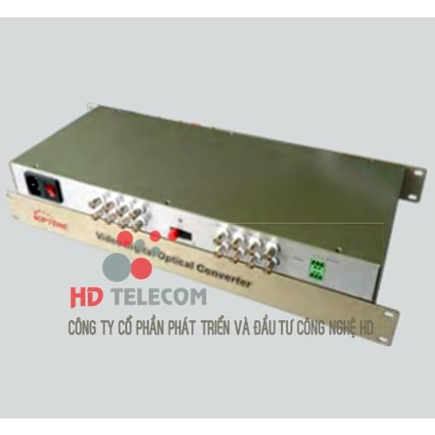 16Ch Video Convertor Fiber