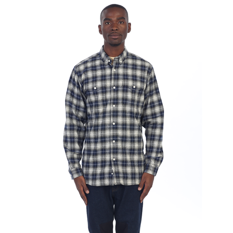 EPTM| Side Zip Flannel / Blue